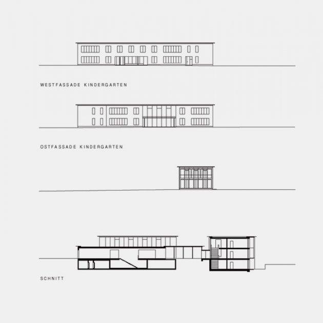 Fassaden Kindergarten – Schnitte