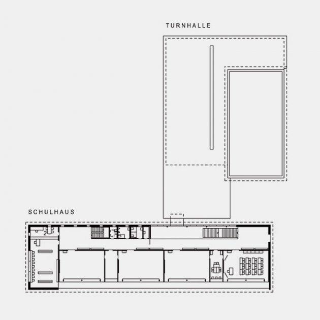 Grundriss Obergeschoss Schulhaus